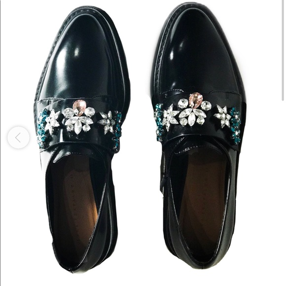 Zara Platform Jeweled Shoes 41